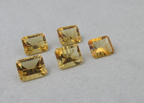 8x6mm Natural Citrine Concave Cut Octagon 50 Pieces Lot Calibrated Size Top Quality yellow Color Loose Gemstone