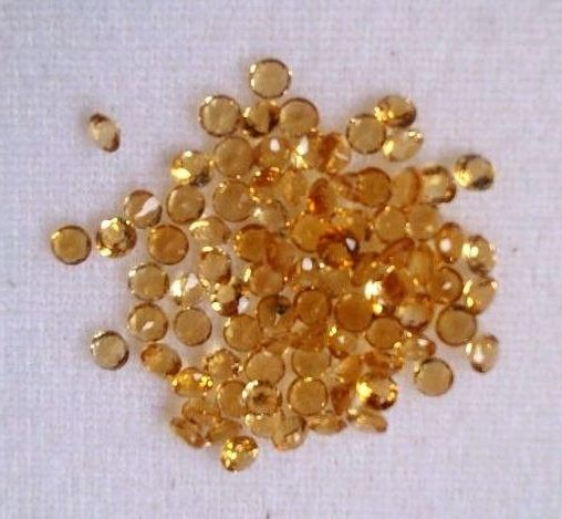 Natural Citrine - 3 mm 25 Pieces Lot Calibrated Size Faceted Cut Round Yellow Color - Natural Loose Gemstone