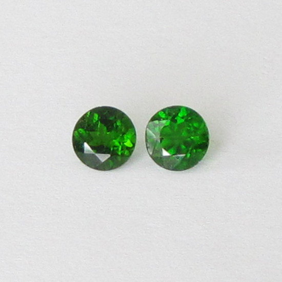 Natural Chrome Diopside- 7mm 1 Pieces Lot Faceted Round Calibrated Size Green Color - Loose Gemstone