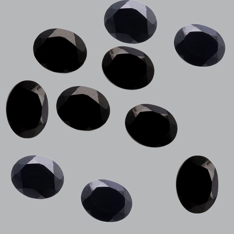 9x7mm Natural Black Spinel Faceted Cut Oval 5 Pieces Lot Top Quality Black Color Loose Gemstone Wholesale Lot For Sale