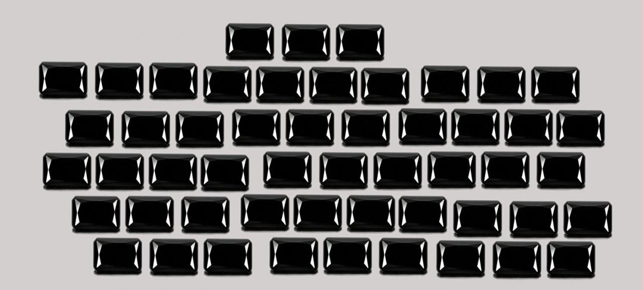 4x6mm Natural Black Spinel Faceted Cut Octagan 25 Pieces Lot Top Quality Black Color Loose Gemstone Wholesale Lot For Sale