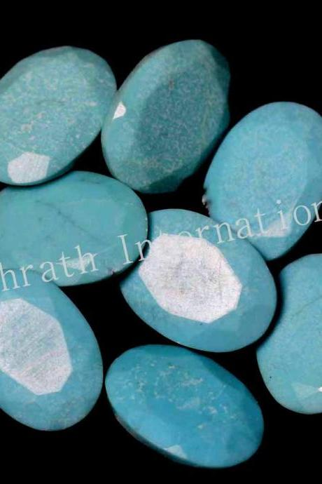 4x6mm Natural Turquoise Oval Faceted Cut 5 Pieces Lot Calibrated Size Top Quality Loose Gemstone