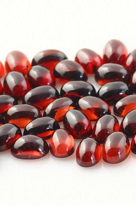 9x7mm Natural Red Garnet Cabochon Oval 10 Pieces Lot Color ( AA) Red Garnet Top Quality Loose Gemstone