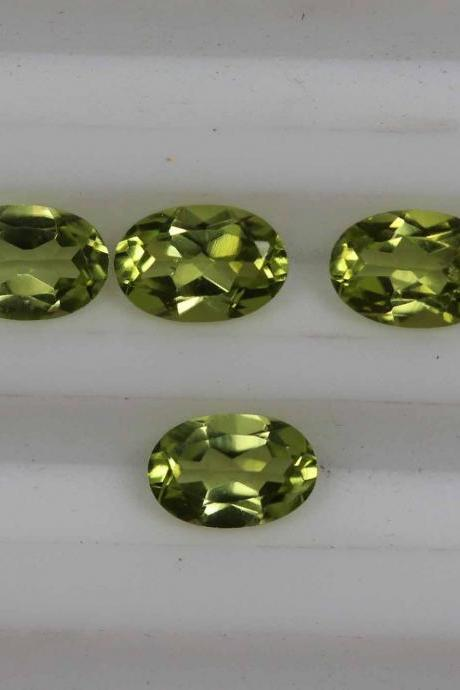 5x3mm Natural Peridot Faceted Cut Oval 10 Pieces Lot Calibrated Size VS Quality Green Color Loose Gemstone