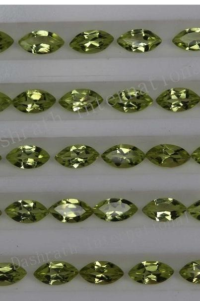2x4mm Natural Peridot Faceted Cut Marquise 75 Pieces Lot Calibrated Size VS Quality Green Color Loose Gemstone