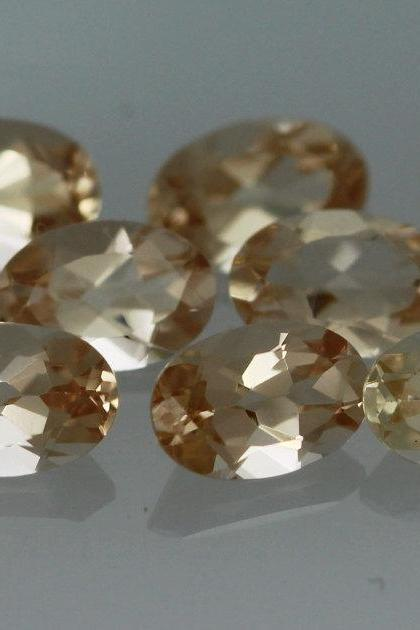 7x5mm Natural Morganite Faceted Cut Oval 2 Piece (1 Pair) Calibrated Size Top Quality Peach Color Loose Gemstone Wholesale for sale