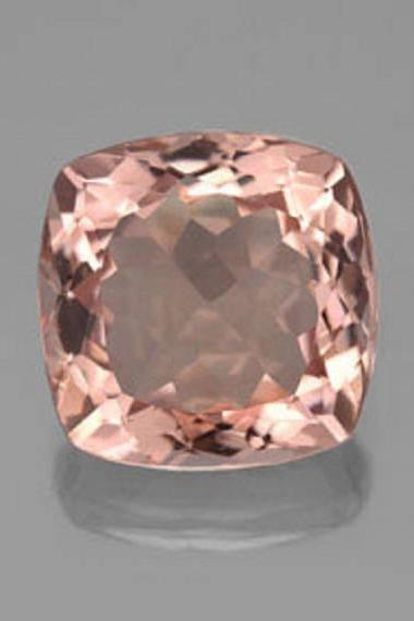 4mm Natural Morganite Faceted Cut Cushion 1 Piece Calibrated Size Top Quality Peach Color Loose Gemstone Wholesale for sale