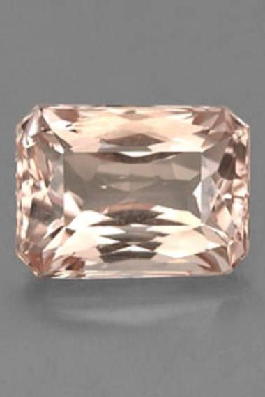 7x5mm Natural Morganite Faceted Cut Octagon 2 Piece (1 Pair ) Calibrated Size Top Quality Peach Color Loose Gemstone Wholesale for sale
