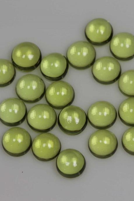 7mm Natural Peridot Cabochon Round 50 Pieces Lot Calibrated Size Top Quality Green Color Loose Gemstone