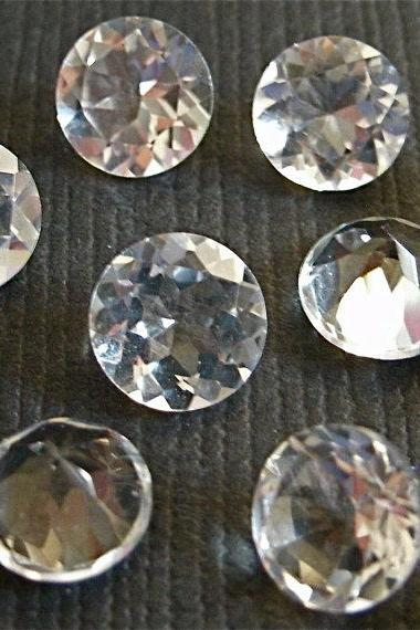 18mm Natural Crystal Quartz Faceted Cut Round 10 Pieces Lot Calibrated Size Top Quality white Color Loose Gemstone