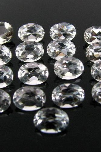 20x15mm Natural Crystal Quartz Faceted Cut Oval 10 Pieces Lot Calibrated Size Top Quality white Color Loose Gemstone