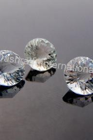 8mm Natural Crystal Quartz Concave Cut Round 100 pieces Lot Calibrated Size Top Quality white Color Loose Gemstone
