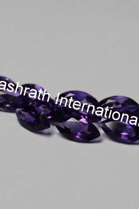 3x6mm Natural Amethyst Faceted Cut Marquare 1 Piece ( AA) Purple Color Top Quality Loose Gemstone
