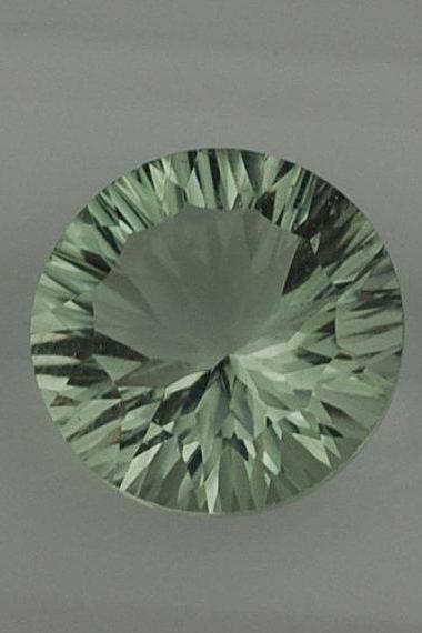 12mm Natural Green Amethyst Concave Cut Round 1 Piece Green Color Top Quality Loose Gemstone