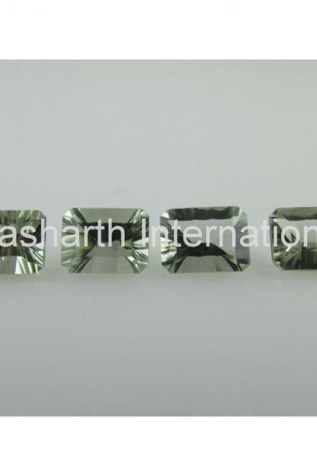 9x11mm Natural Green Amethyst Concave Cut Octagon 10 Pieces Lot Green Color Top Quality Loose Gemstone