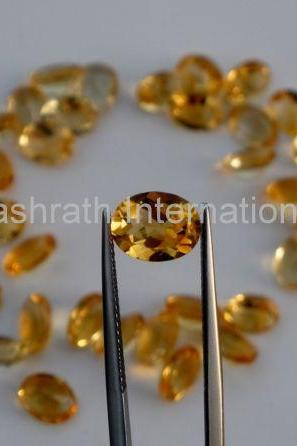 3x4mm Natural Citrine Faceted Cut Oval 5 Pieces Lot Yellow Color (AA) Calibrated Size Top Quality Loose Gemstone