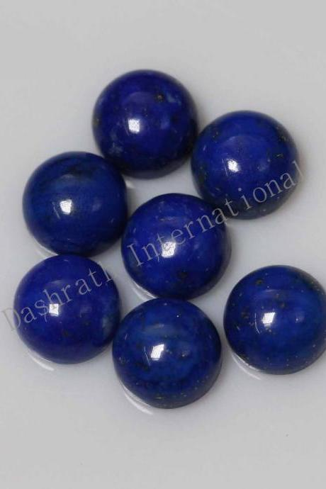 14mm Natural Lapis Lapuli Cabochon Round 5 Pieces Lot Blue Color Top Quality Loose Gemstone