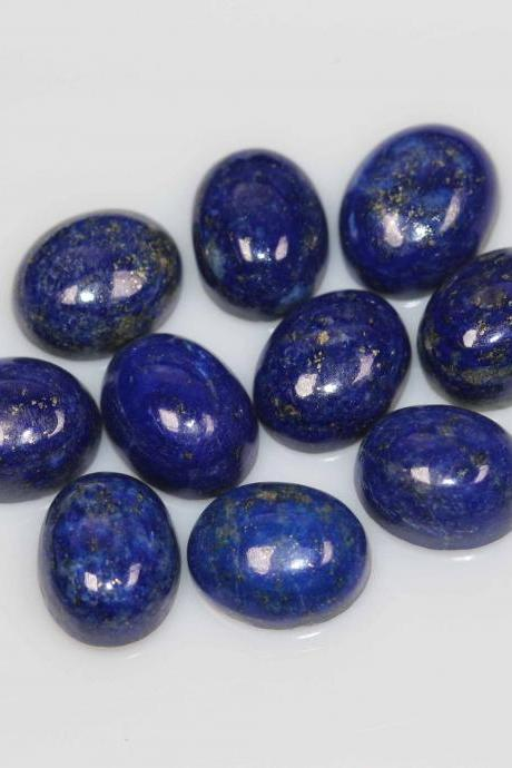 7x9mm Natural Lapis Lapuli Cabochon OVal 5 Pieces Lot Blue Color Top Quality Loose Gemstone