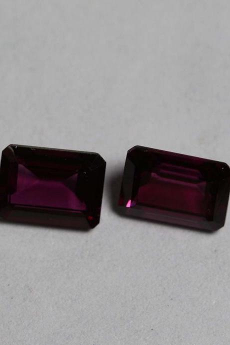7x5mm Natural Rhodolite Garnet Faceted Cut Octagon 75 Pieces Lot Red Pink Color Top Quality Loose Gemstone
