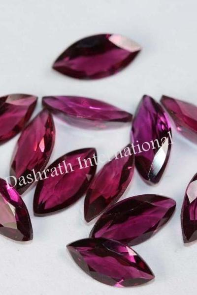 2x4mm Natural Rhodolite Garnet Faceted Cut Marquise 1 Piece Red Pink Color Top Quality Loose Gemstone