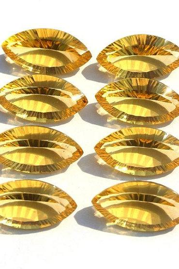 14x7mm Natural Citrine Concave Cut Marquise 25 Pieces Lot Calibrated Size Top Quality yellow Color Loose Gemstone