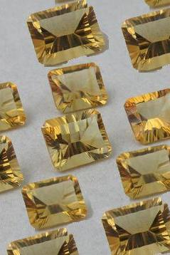 16x12mm Natural Citrine Concave Cut Octagon 2 Piece (1 Pair) Calibrated Size Top Quality yellow Color Loose Gemstone