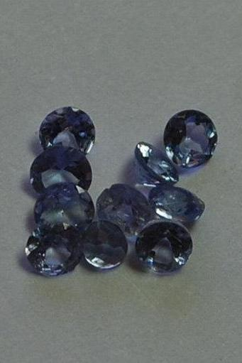 Natural Tanzanite 3mm 10 Pieces Lot Faceted Cut Round Top Quality A Color - Loose Gemstone