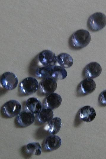 Natural Tanzanite 4.5mm 10 Pieces Lot Faceted Cut Round Top Quality A Color - Loose Gemstone