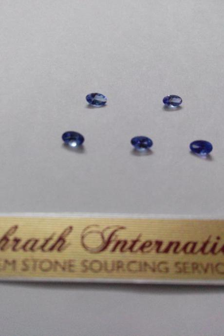 Natural Tanzanite 3x4mm 50 Pieces Lot Faceted Cut Oval Top Quality A Color - Loose Gemstone