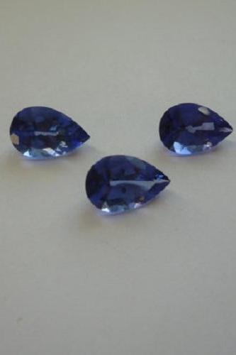 Natural Tanzanite 4x6mm 5 Pieces Lot Faceted Cut Pear Top Quality AA Color - Loose Gemstone