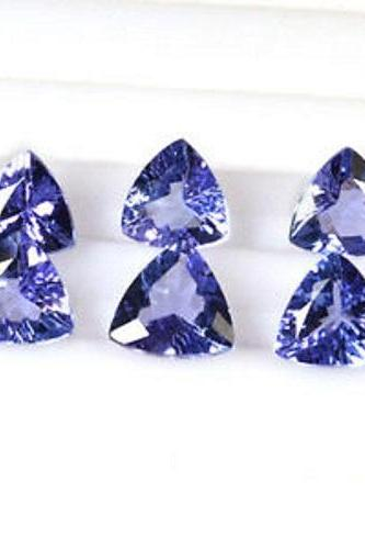 Natural Tanzanite 4mm 10 Pieces Lot Faceted Cut Trillion Top Quality AA Color - Loose Gemstone