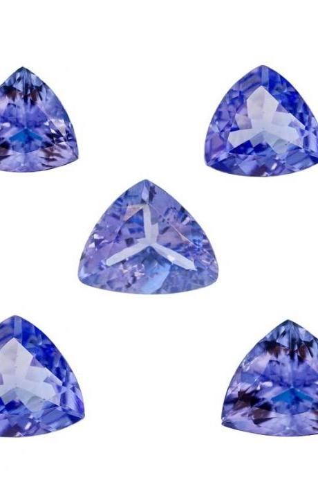 Natural Tanzanite 5mm 50 Pieces Lot Faceted Cut Trillion Top Quality AA Color - Loose Gemstone