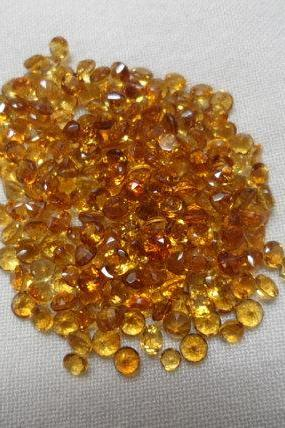 Natural Citrine - 3 mm 10 Pieces Lot Calibrated Size Faceted Cut Round Yellow Color - Natural Loose Gemstone