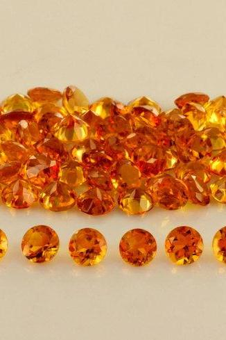 Natural Citrine - 5mm 10 Pieces Lot Calibrated Size Faceted Cut Round Yellow Color - Natural Loose Gemstone