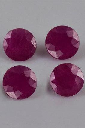 Natural Ruby 10mm 25 Pieces Lot Faceted Cut Round Red Pink Color Top Quality Loose Gemstone
