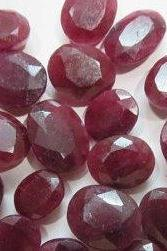 Natural Ruby 5x3mm 2 Pieces Faceted Cut Oval Red Pink Color Top Quality Loose Gemstone