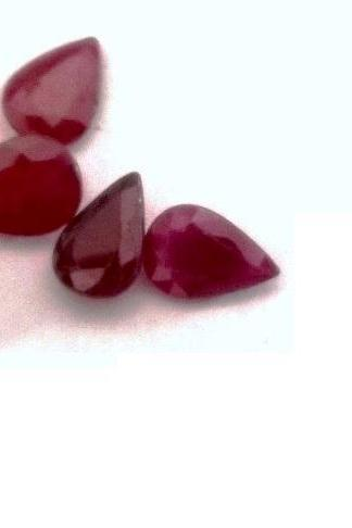 Natural Ruby 4x3mm 10 Pieces Lot Faceted Cut Pear Red Pink Color Top Quality Loose Gemstone