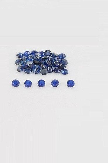 Natural Blue Sapphire 4mm 25 Pieces Lot Faceted Cut Round Blue Color Top Quality Loose Gemstone
