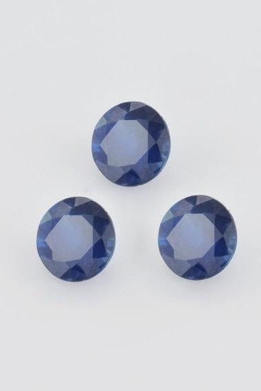 Natural Blue Sapphire 7mm 25 Pieces Lot Faceted Cut Round Blue Color Top Quality Loose Gemstone