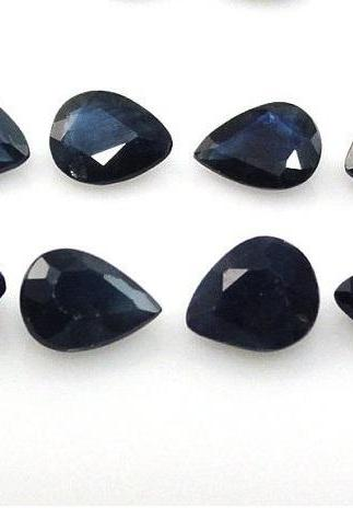 Natural Blue Sapphire 6x8mm 50 Pieces Lot Faceted Cut Pear Blue Color Top Quality Loose Gemstone
