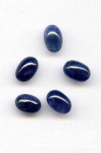 Natural Blue Sapphire 4x6mm 10 Pieces Lot Cabochon Oval Blue Color Top Quality Loose Gemstone