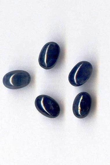 Natural Blue Sapphire 5x7mm 2 Pieces Cabochon Oval Blue Color Top Quality Loose Gemstone