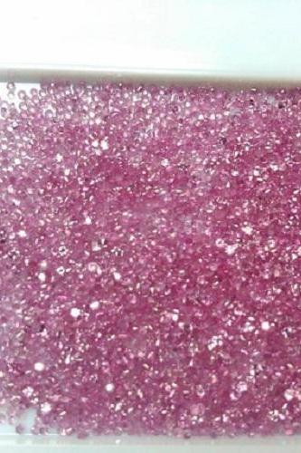 Natural Pink Sapphire 1.5mm 100 Pieces Lot Faceted Cut Round Pink Color Top Quality Loose Gemstone