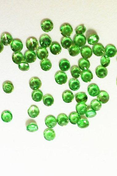 Natural Tsavorite 2.5mm 50 Pieces Lot Faceted Cut Round Green Color Top Quality Loose Gemstone