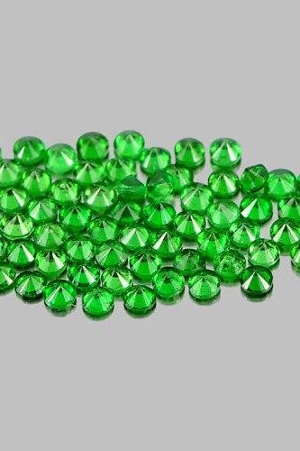 Natural Tsavorite 3.5mm 100 Pieces Lot Faceted Cut Round Green Color Top Quality Loose Gemstone