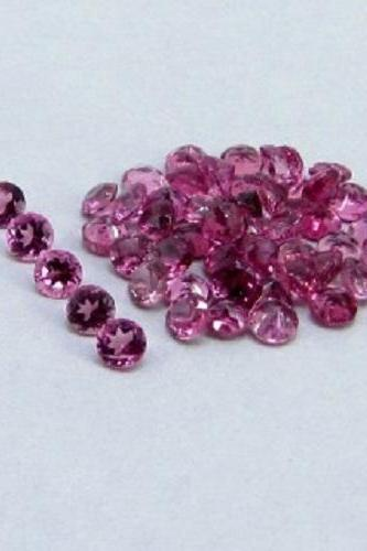 Natural Pink Tourmaline 6mm 5 Pieces Lot Faceted Cut Round Pink Color Top Quality Loose Gemstone