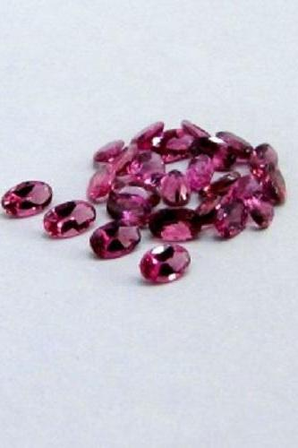 Natural Pink Tourmaline 5x3mm 100 Pieces Lot Faceted Cut Oval Pink Color Top Quality Loose Gemstone
