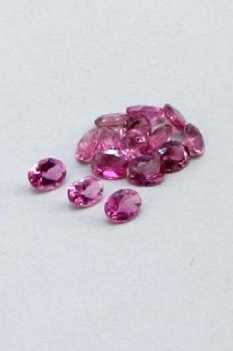 Natural Pink Tourmaline 4x5mm 10 Pieces Lot Faceted Cut Oval Pink Color Top Quality Loose Gemstone