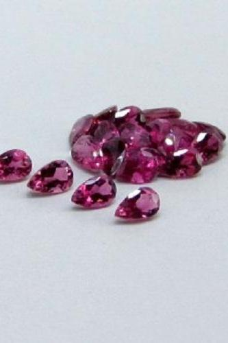 Natural Pink Tourmaline 6x4mm 10 Pieces Lot Faceted Cut Pear Pink Color Top Quality Loose Gemstone