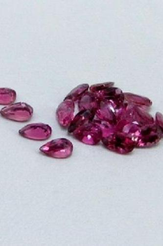 Natural Pink Tourmaline 6x4mm 50 Pieces Lot Faceted Cut Pear Pink Color Top Quality Loose Gemstone